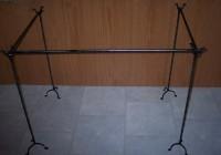 free standing curtain rod set