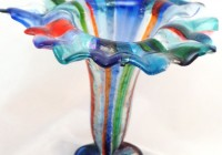 Fused Glass Flower Vases