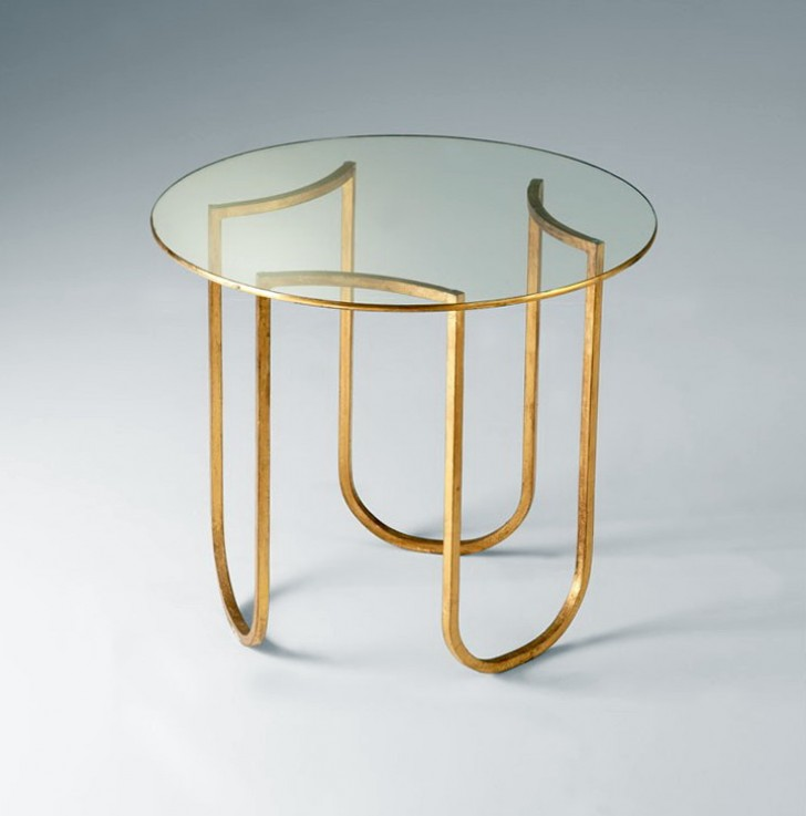 Permalink to Glass And Gold Side Table