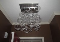 glass bubble chandelier diy