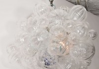 glass bubble light chandelier