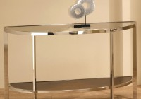 Glass Console Table With Shelf