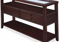 glass console tables with storage