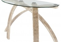 Glass Entryway Console Table