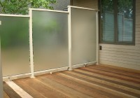 Glass Privacy Screens For Decks