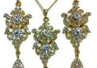 Gold Chandelier Earrings Wedding