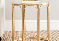 gold mirrored end tables
