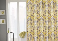 Gray And Yellow Curtain Panels
