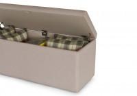 Gray Upholstered Storage Bench
