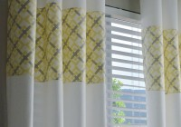 Gray Yellow And White Curtains
