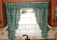 Green Plaid Kitchen Curtains