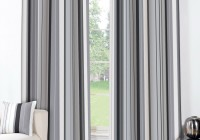 Grey Striped Curtain Panels