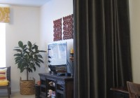 Hang Curtains From Ceiling As Room Divider