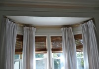 Hinged Curtain Rod For Bay Window