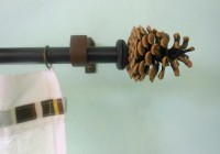 Homemade Curtain Rod Finials