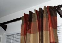homemade curtain rod finials