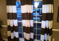 Horizontal Striped Curtain Panels