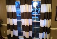 Horizontal Striped Curtain Panels