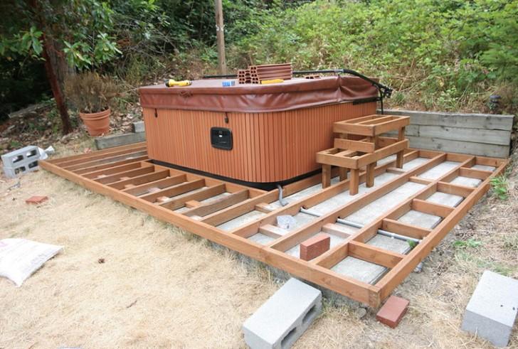 Permalink to Hot Tub On Raised Deck