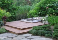 hot tub under deck ideas