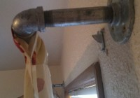 Industrial Pipe Curtain Rod Diy