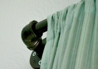 industrial style curtain rods