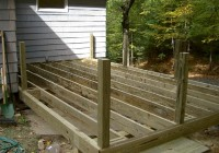 Installing Deck Railing Posts On Outside Of Deck