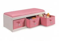 kids storage bench with cushion