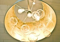 Lamp Shade Chandelier Diy