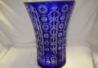 Large Blue Glass Vase