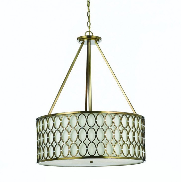 Permalink to Large Drum Pendant Chandelier