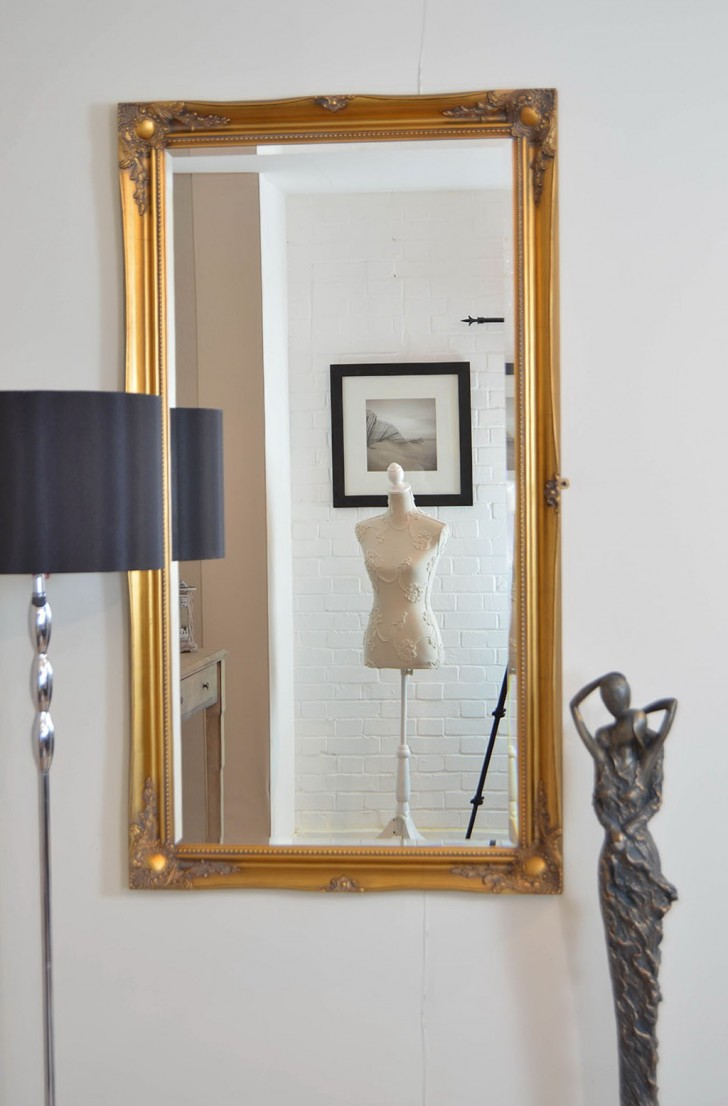 Permalink to Large Gold Wall Mirror