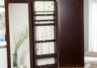 Large Jewelry Armoire With Mirror