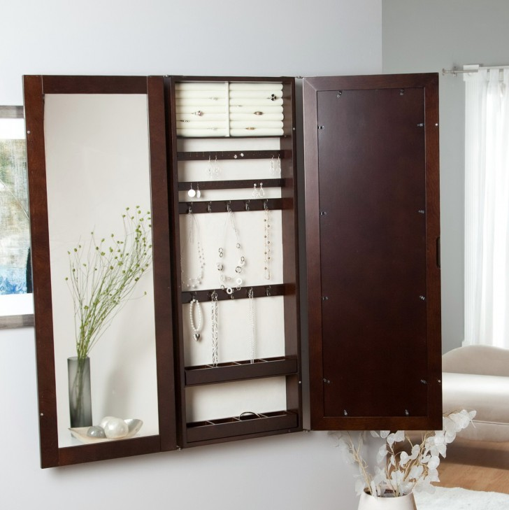 Permalink to Large Jewelry Armoire With Mirror