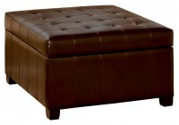 large leather ottoman with storage