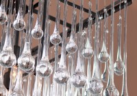 Large Rectangular Crystal Chandelier