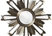Large Round Silver Leaf Mirror