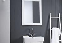 Large White Bathroom Mirror