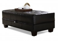Leather Coffee Table Ottoman With Storage