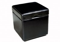 Leather Cube Ottoman Target
