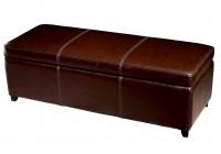Leather Ottoman Storage Bench