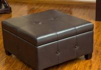 leather storage ottoman coffee table