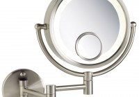 Lighted Magnifying Makeup Mirror Wall Mount