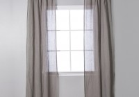 linen tie top curtain panels