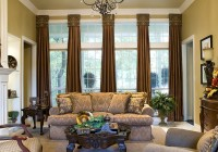 living room big window curtains