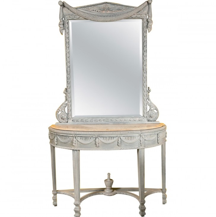 Permalink to Marble Top Console Table And Mirror