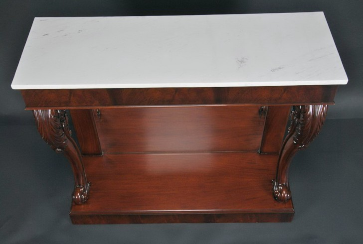 Permalink to Marble Top Console Table Antique