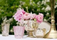 Mercury Glass Vase Centerpiece