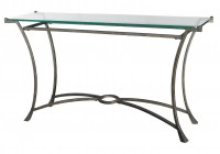 Metal Console Tables Glass Top