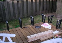 metal deck bench brackets